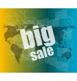 big sale on business digital touch screen vector image
