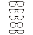 Black hipster glasses set with thick holder vector image vector image