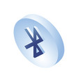 bluetooth isometric icon 3d isometric bluetooth vector image vector image