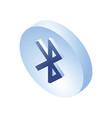 bluetooth isometric icon 3d isometric bluetooth vector image