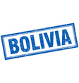Bolivia blue square grunge stamp on white vector image vector image