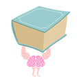 Brain training Fitness for the mind Strong smart vector image