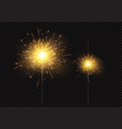 bright shiny sparkling bengal light fireworks vector image