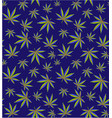 cannabis leaves seamless pattern cannabis field vector image