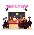 celebrities tv show composition vector image vector image