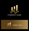 chain progress business finance gold logo vector image