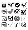 Check Boxes Set vector image vector image