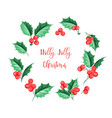 christmas mistletoe holiday garland happy new vector image