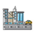 city buildings design concept vector image vector image