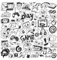computer games doodles vector image