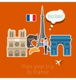 Concept of travel or studying French vector image vector image
