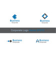 corporate logo identity x9xa vector image