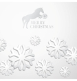Creative christmas snow cristalls vector image
