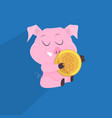 cute pigs symbol of 2019 chinese new year vector image vector image