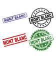 damaged textured mont blanc seal stamps vector image vector image