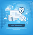 data protection template web banner with copy vector image vector image