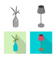 design of bedroom and room symbol set of vector image vector image