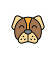 dog pet animal flat color icon vector image