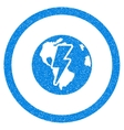 Earth Shock Rounded Icon Rubber Stamp vector image vector image