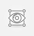 eye icon minimal machine learning symbol vector image