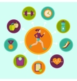 fitness infographics design elements vector image vector image