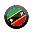flag of saint kitts and nevis black round button vector image vector image