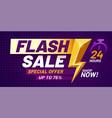 flash sale poster lightning offer sales special vector image