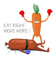 funny poster diet vector image vector image