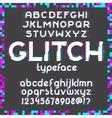 Glitch Font set vector image vector image