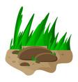 grass and rocks cartoon symbol icon design vector image vector image