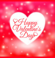 happy valentines day card with red background vector image vector image
