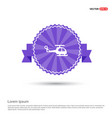 helicopter icon - purple ribbon banner vector image vector image