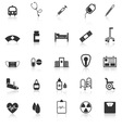 Hospital icons with reflect on white background vector image vector image