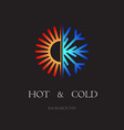hot and cold black background vector image vector image