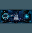 hud interface virtual reality technology vector image