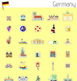 Icons of Germany vector image vector image