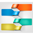 Info graphics banner with numbers vector image