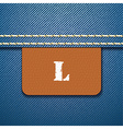 L size clothing label - vector image vector image