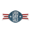 Labor Day Sale realistic festive Banner vector image vector image