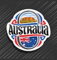 logo for australia vector image vector image