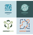 Logotype template vector image vector image