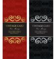 luxury vintage cards vector image