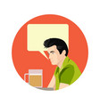 man holding beer cartoon vector image