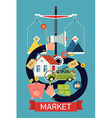Marketplace Icon Poster vector image vector image