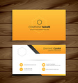 modern yellow business card vector image vector image