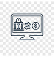 money transfer concept linear icon isolated on vector image