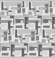 monochrome abstract pattern with rectangles vector image vector image