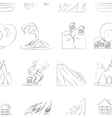 Natural disaster icon set pattern vector image vector image