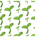 nature fresh green leaves texture - seamless vector image vector image