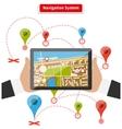 Navigation System vector image vector image